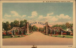 Blue Hole Entrance Postcard