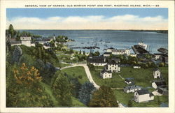 General View of Harbor, Old Mission Point and Fort