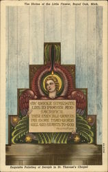 Exquisite Painting of Seraph in St. Therese's Chapel, The Shrine of the Little Flower