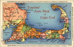 Tourists' Auto Map of Cape Cod