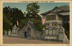 Entrance to Pope Museum Postcard