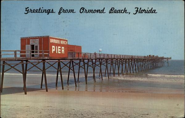 View of Beach and Pier Ormond Beach Florida