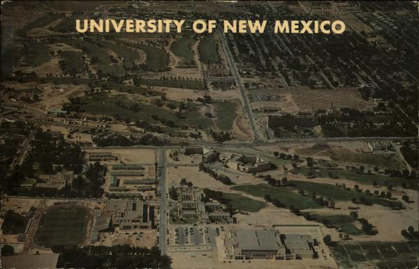 Aerial View of Univeristy Albuquerque New Mexico Joel Burret