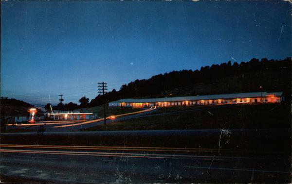Night View of Johnson's Motel & Restaurant Wytheville Virginia