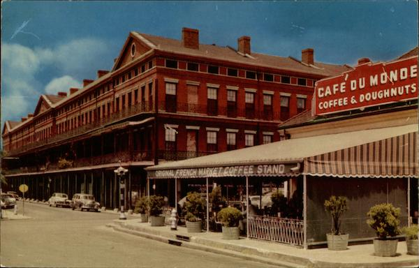 The Pontalba Apartments And French Market Coffee Stand On Place D Armes New Orleans