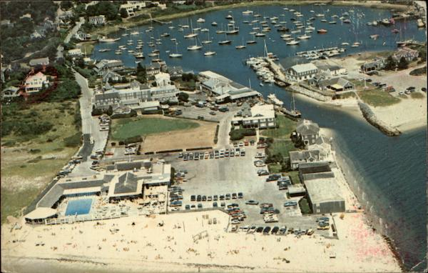 Aerial View, Cape Cod Wychmere Harbor Massachusetts