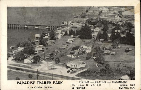 Aerial View of Paradise Trailer Park Ruskin Florida