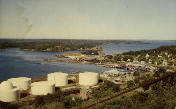 View From the Forestry Fire Tower Overlooking the Harbour and Sound Parry Sound Canada