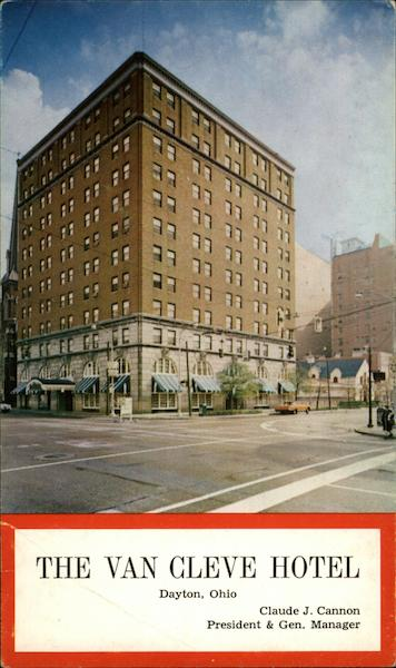 The Van Cleve Hotel Dayton Ohio Original Sold