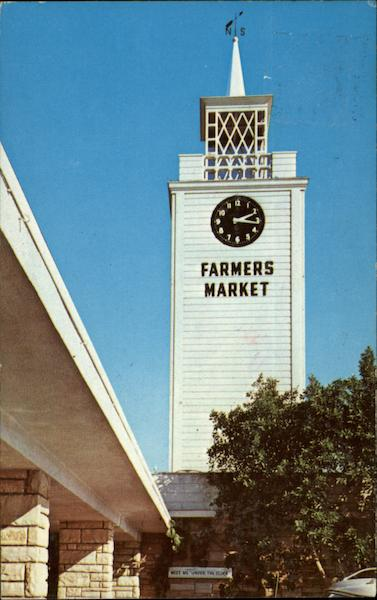 World Famous Farmers Market - Meet Me at the Clock Los Angeles California