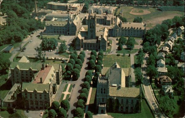 Aerial View of Boston College Chestnut Hill Massachusetts