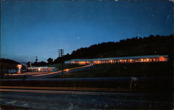 Night View of Johnson's Motel & Restaurant Postcard