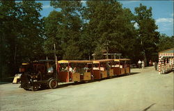 Pioneer Train, Santa Claus Land Postcard