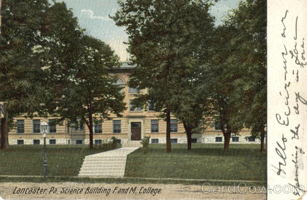 Science Building F. and M. College Lancaster Pennsylvania