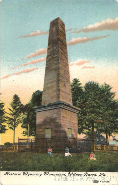 Historic Wyoming Monument Wilkes-Barre Pennsylvania