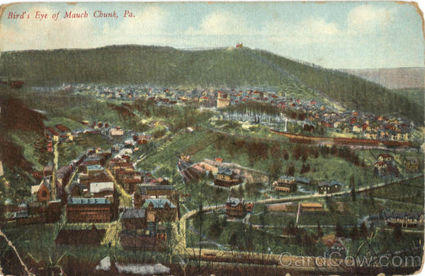 Bird's Eye of Mauch Chunk Pennsylvania
