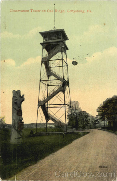 Observation Tower on Oak Ridge Gettysburg Pennsylvania