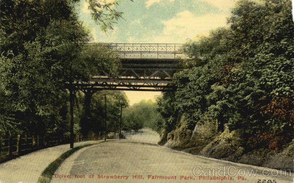 Drive, foot of Strawberry Hill, Fairmount Park Philadelphia Pennsylvania