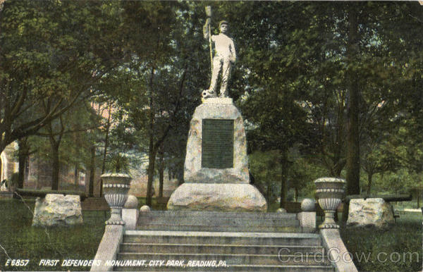 First Defenders Monument, City Park Reading Pennsylvania