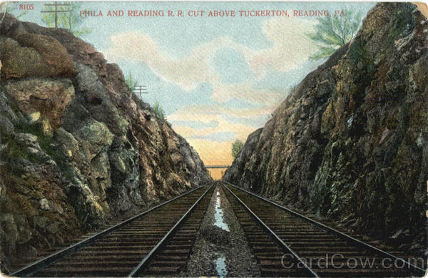 Phila And Reading R.R. Cut Above Tuckerton Pennsylvania