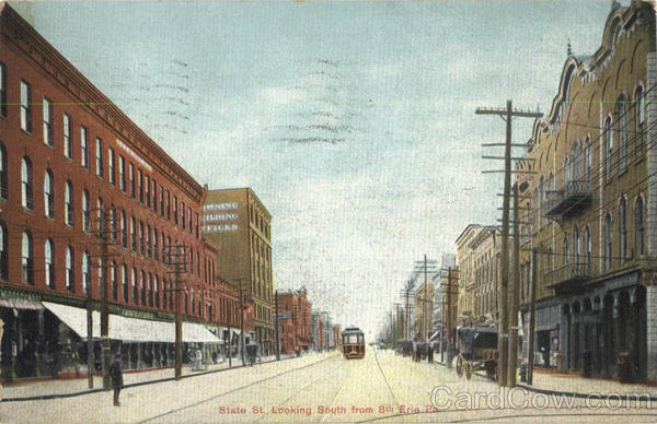 State St. Looking South frin 8th Erie Pennsylvania