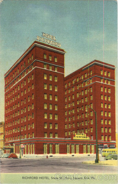 Richaford Hotel, State St.,Perry Square Erie Pennsylvania