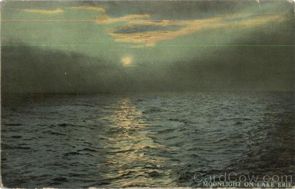 Moonlight on Lake Erie Pennsylvania