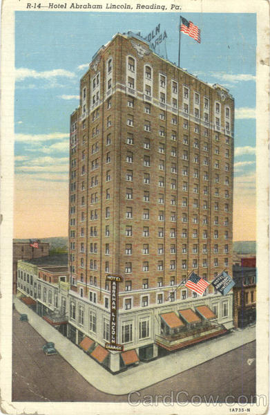 Hotel Abraham Lincoln Reading Pennsylvania
