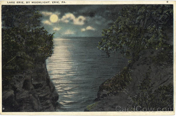 Lake Erie By Moonlight Pennsylvania