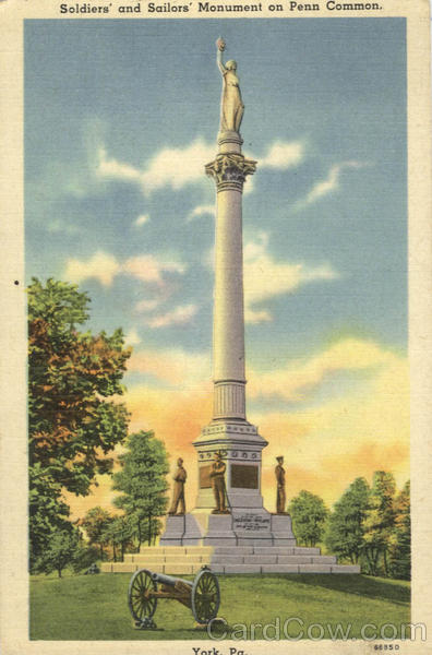 Soldiers and Sailors Monument on Penn Common York Pennsylvania