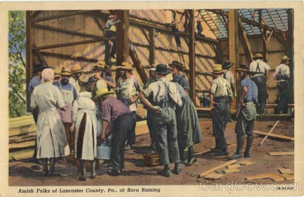 Amish Barn Raising Lancaster Pa