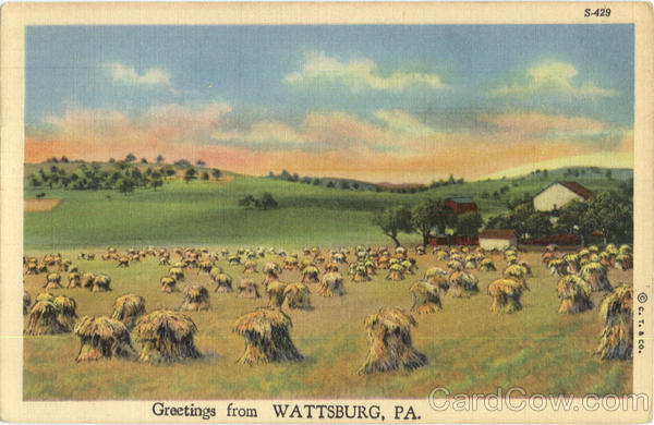 Greetings from Wattsburg Pennsylvania