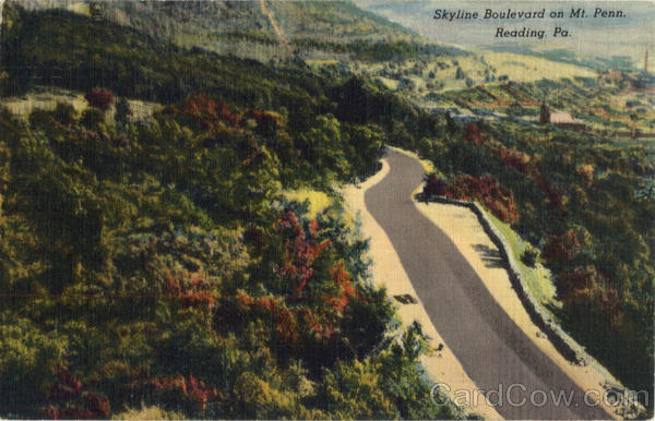 Skyline Boulevard on Mt. Penn Reading Pennsylvania