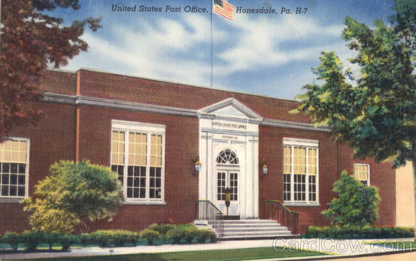 United States Post Office Honesdale Pennsylvania