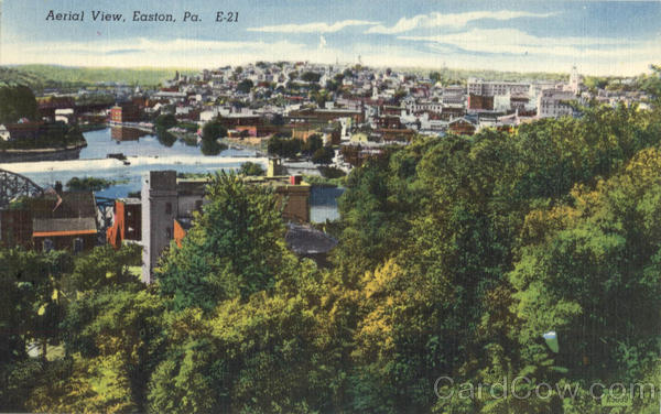 Aerial View Easton Pennsylvania