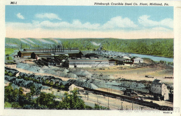 Pittsburgh Crucible Steel Co. Plant Midland Pennsylvania