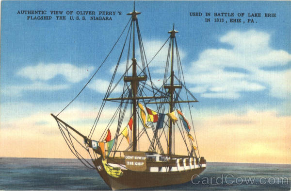 Authentic View of Oliver Perry's Flagship Erie Pennsylvania