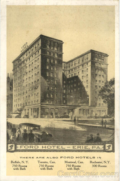 J Ford Hotel Erie Pennsylvania