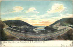 Horse Shoe Curve on Pennsylvania R.R