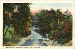 View Along the Bushkill, Looking East Postcard