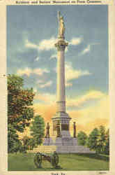 Soldiers and Sailors Monument on Penn Common
