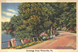 Greetings From Waterville Postcard