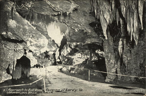 Approach to Ball Room, Caverns of Luray Virginia