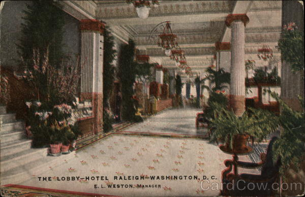 The Lobby, Hotel Raleigh Washington District of Columbia