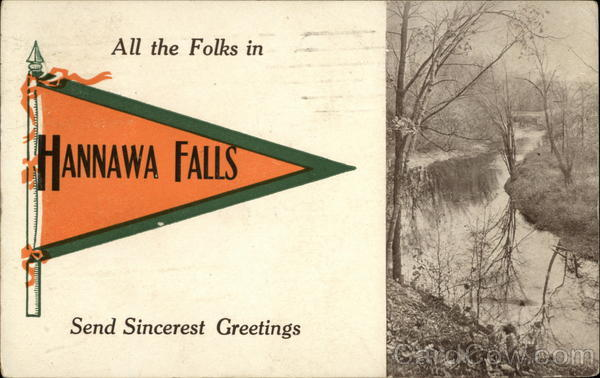 All the Folks in Hannawa Falls Send Sincerest Greetings New York