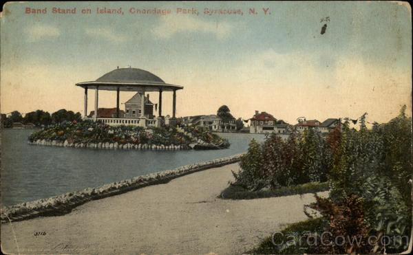 Band Stand on Island, Chondaga Park Syracuse New York