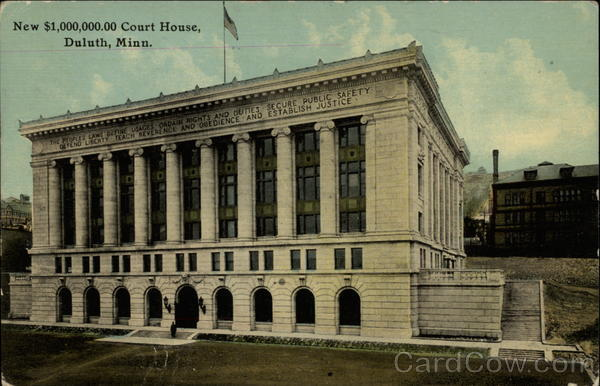 New $1,000,000.00 Court House Duluth Minnesota