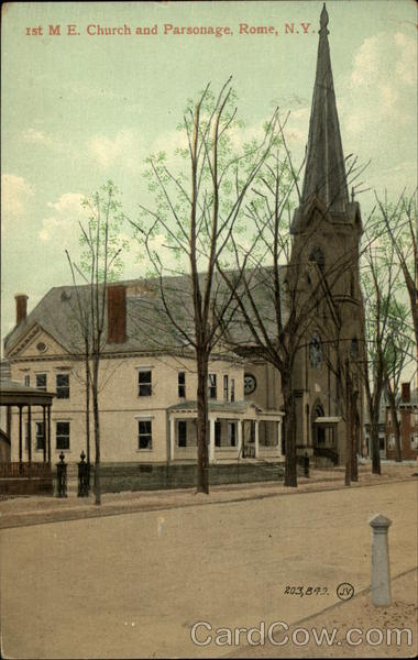 1st M. E. Church and Parsonage Rome New York