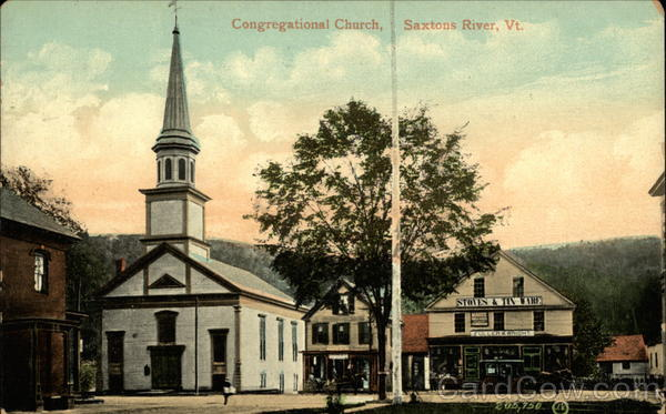 Congregational Church Saxtons River Vermont