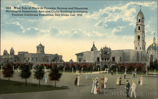 West Side of Plaza de Panama, Science and Education Building San Diego California
